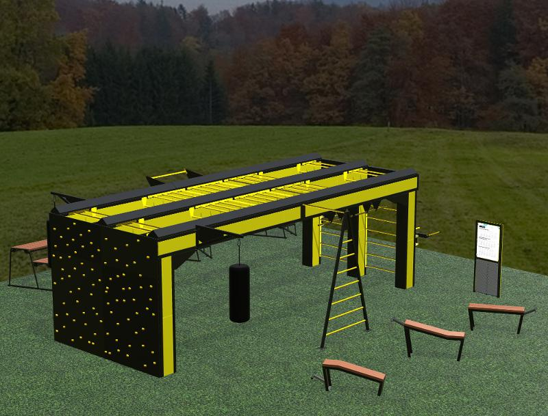 Rig set Punto Fit 8.4m with climbing wall - Punto Fit
