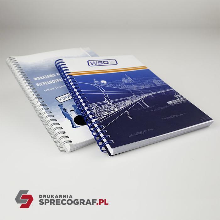 Wire-o-bindning: anteckningsböcker, kataloger, broschyrer - spiralbindning, träningsmaterial, anteckningsböcker