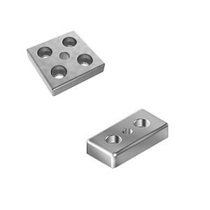 Transport and foot plate for profile construction - transportplaat, voetplaat; profile assembly mounting plate