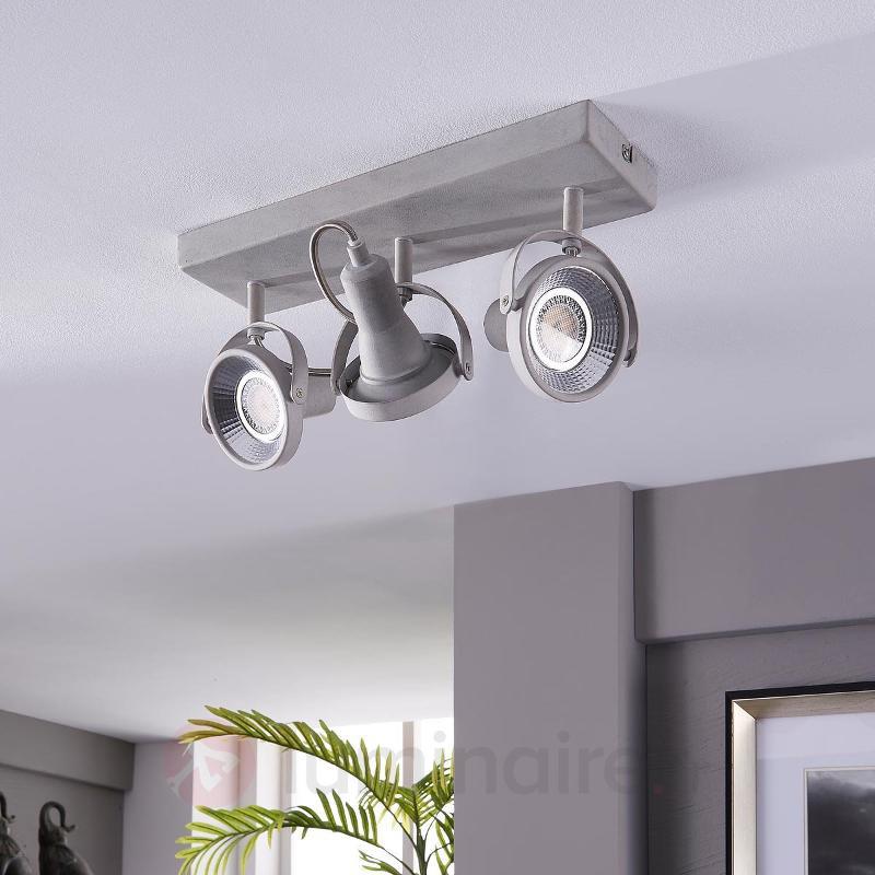 Projecteur de plafond LED à trois lampes Pieter - Spots et projecteurs LED