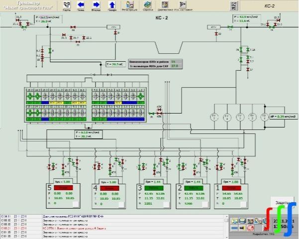 Simulator - Simulator for training gas trunk pipeline dispatchers
