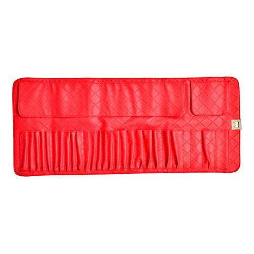 Large Capacity Makeup Brush Rolling Case Cosmetic Bag