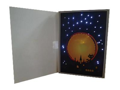 Custom LED Musical Greeting Cards for Any Occasion - Handmade LED lighting up paper greeting card promotional gift from China factory