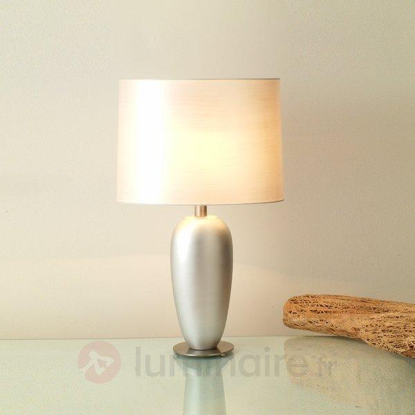 Lampe à poser argentée LAMBDA, hauteur 65 cm - Lampes à poser classiques, antiques