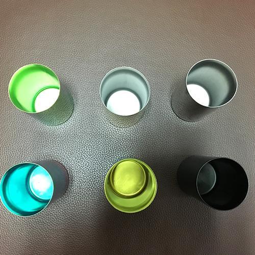 Кубок Титана - Чистый титан, анодирование PVD полировки Двойной кубок, 60x110 мм, 350 мл