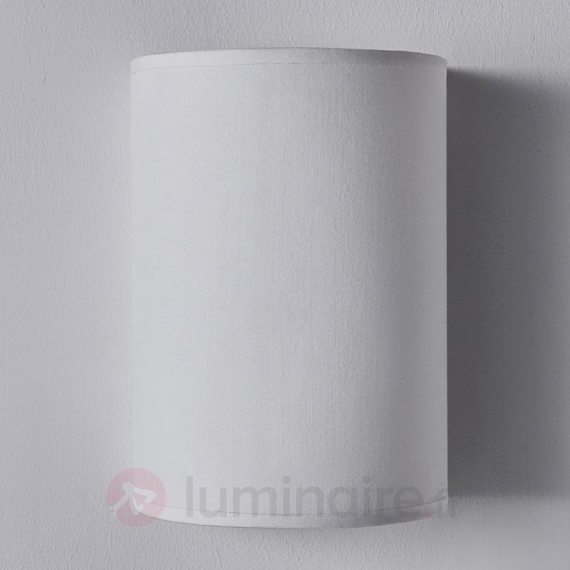 Applique textile semi-circulaire Annalisa en blanc - Appliques en tissu