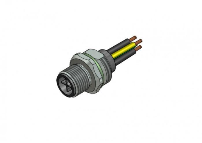 M12x1 Power Steckverbinder - M12x1  Power Steckverbinder