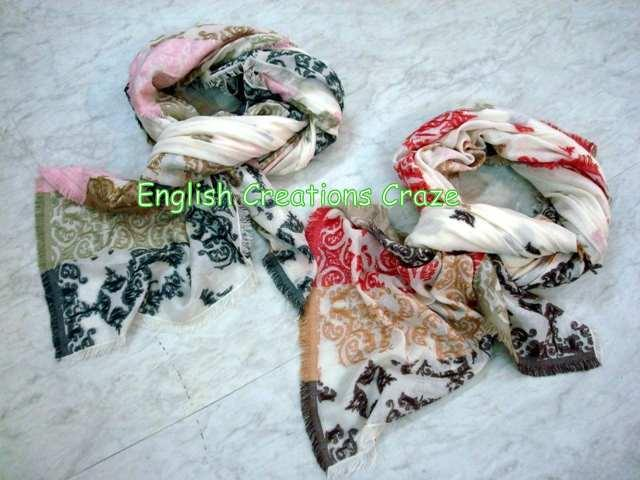 Cashmere Silk Cotton woven Scarves - Cashmere Silk Cotton woven Scarves