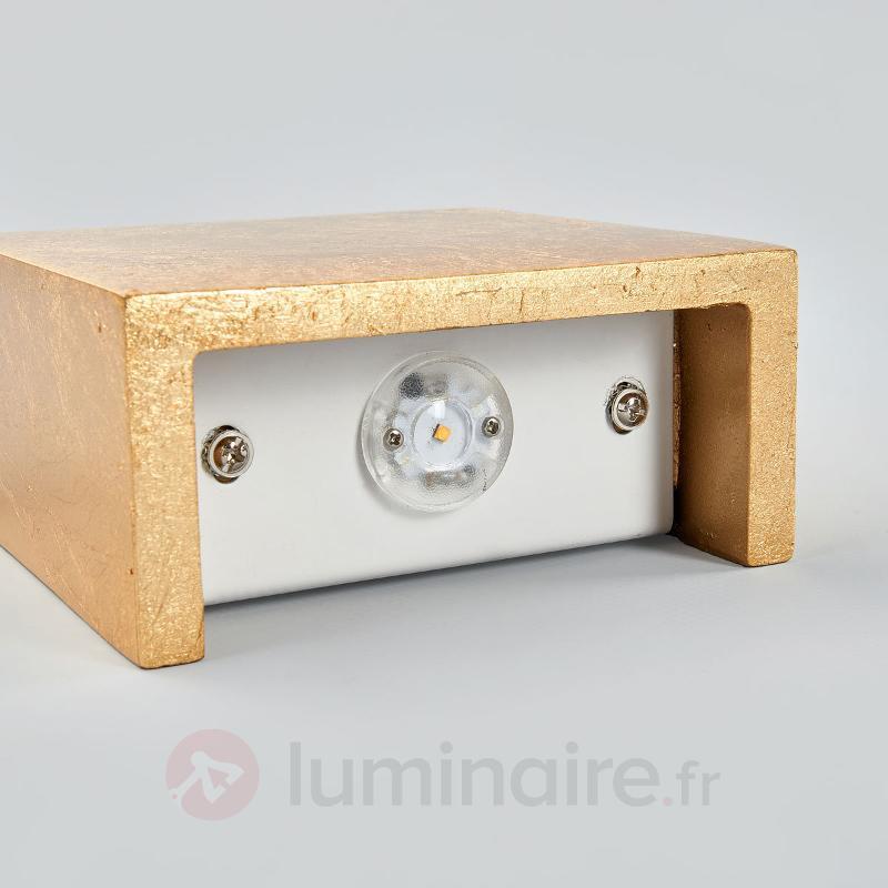 Applique LED carrée Erica finition dorée - Appliques LED