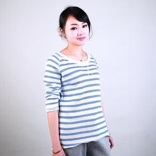 fashion custom womens yarn dyed crewneck sweatshirt - Anti-Pilling, Anti-Shrink, Anti-Wrinkle, Breathable, Eco-Friendly, Quick Dry