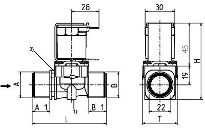 Electrovanne servo-commandée NF, DN 13 - 01.013.126