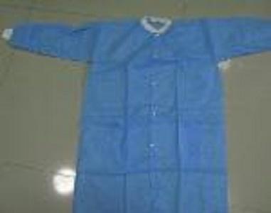 Blouse de laboratoire non tissée jetable - Couleur: bleu, blanc, vert, jaune Matériel: Matériel de non-tissé de pp / film d