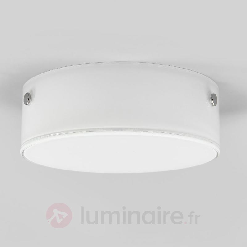 Plafonnier en verre Sole avec LED - Plafonniers en verre