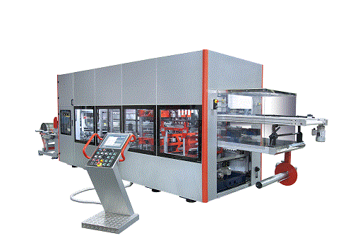 YM 650-450 HIGH SPEED THERMOFORMING MACHINE - Fully Servo Driven With 3&4 Stations (Forming/Cutting/Punching/Stacking)