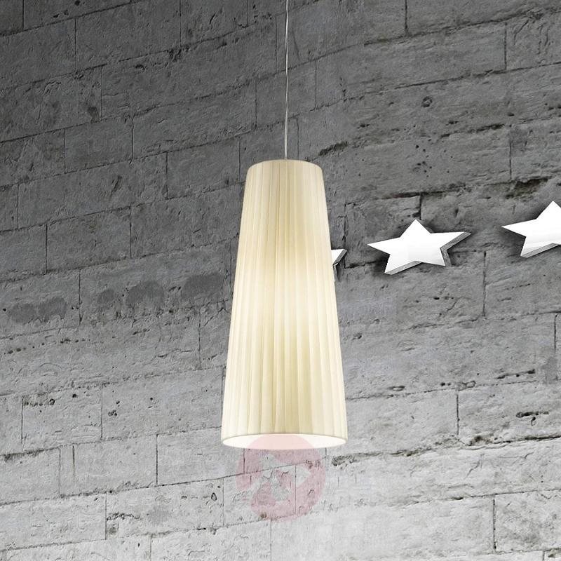 Dorotea Designer Hanging Light Narrow Beige - design-hotel-lighting