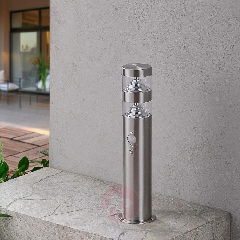 Lanea motion sensor LED pillar light,stainl.steel - Pillar Lights