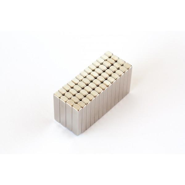 Block magnet, Neodymium, 20x4x3mm, N48, Ni-Cu-Ni,... - null