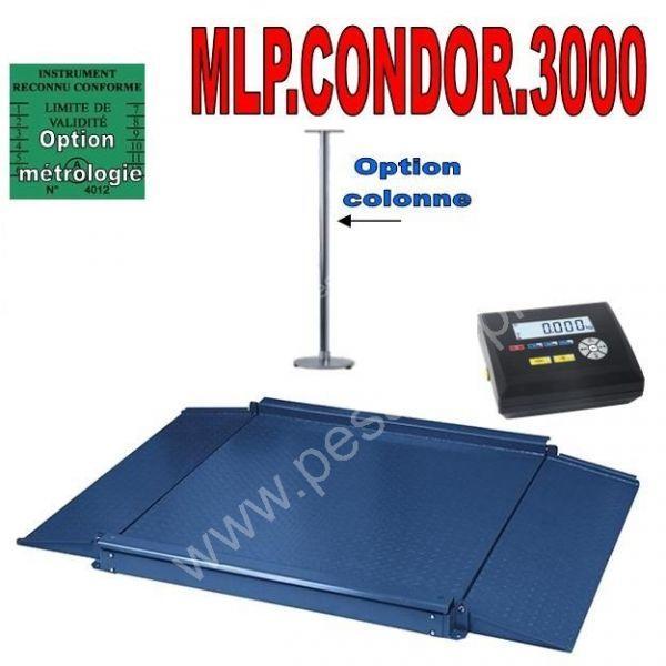 Balance industrielle 3000Kgs - Balances au sol (ACIER et INOX)