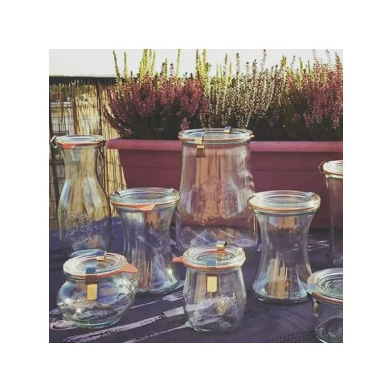 6 vasi WECK Bobine® 370 ml  - con coperchi e guarnizioni (graffe non incluse)