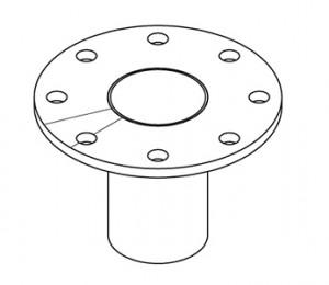 Stud with flange - null