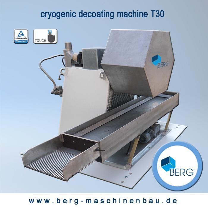 Installations de dégommage cryogéniques T30 - pour éliminer l'accumulation d'élastomère liée à la production - sans chimiques