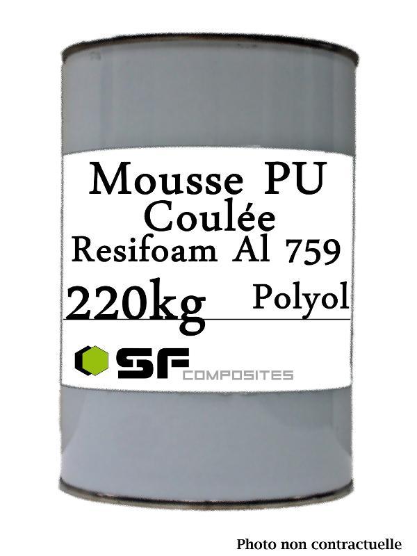 MOUSSE COULE RESIFOAM 759 220K - Resines polyurethanes Mousse de coulée