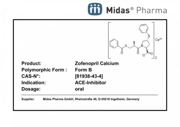 Zofenopril Calcium - Zofenopril Calcium, 81938-43-4, API