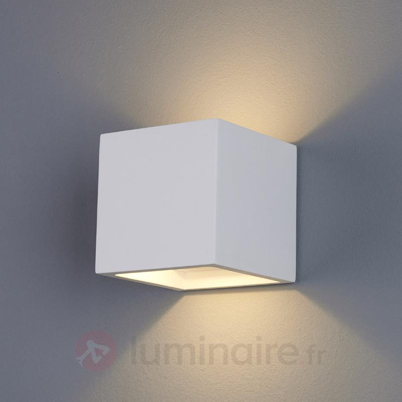 Applique LED Marita en forme de dé en plâtre - Appliques LED