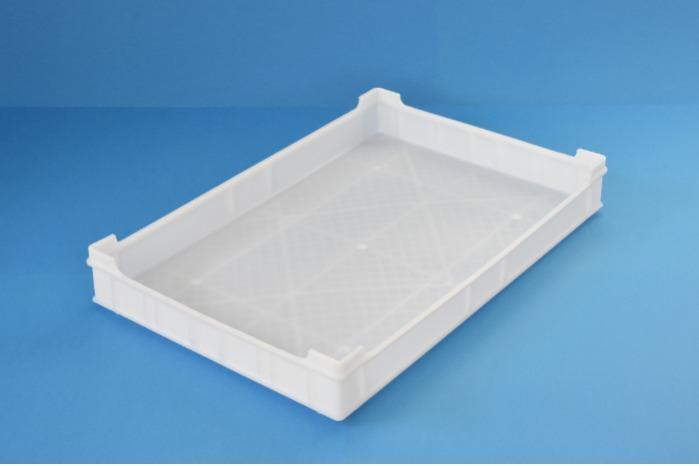 Caixa de plástico empilhável - Tabuleiros fechados