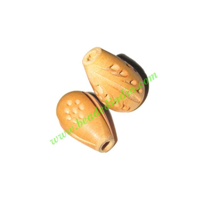 Natural Color Wooden Beads, size 15x23mm, weight approx 1.8  - Natural Color Wooden Beads, size 15x23mm, weight approx 1.8 grams