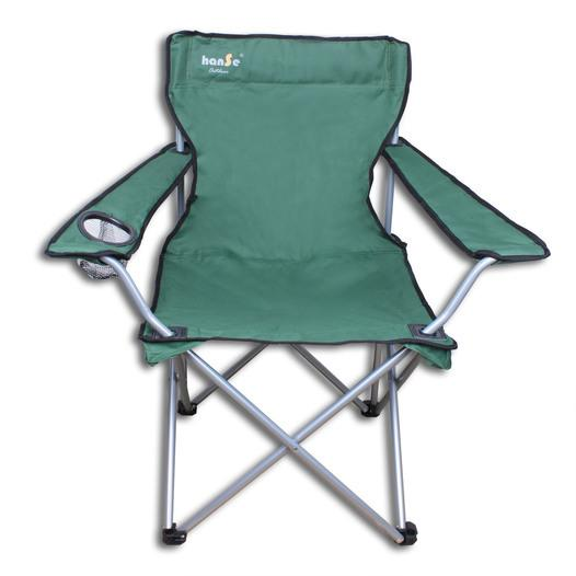 Campingstuhl grün/ schwarz mit Kühltasche - null