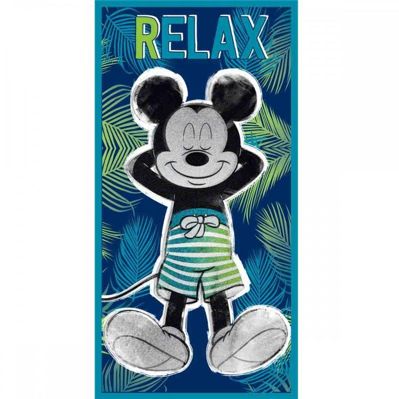 6x Serviettes de plage Mickey 70x140 - Serviette