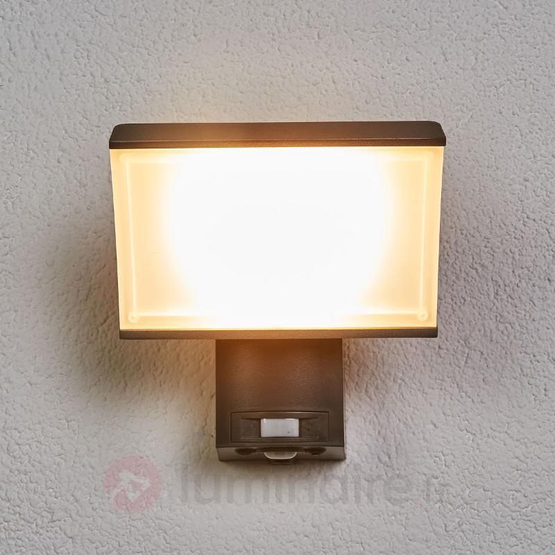 Applique LED moderne Floodlight, capteur IR - Appliques d'extérieur avec détecteur