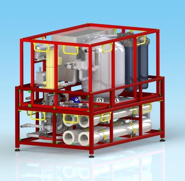Unité de potabilisation sur structure métallique (SKID)