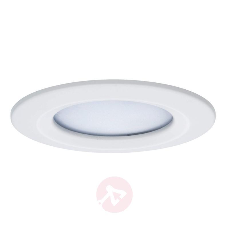Set of three Coin Slim LED recessed lights, IP44 - indoor-lighting