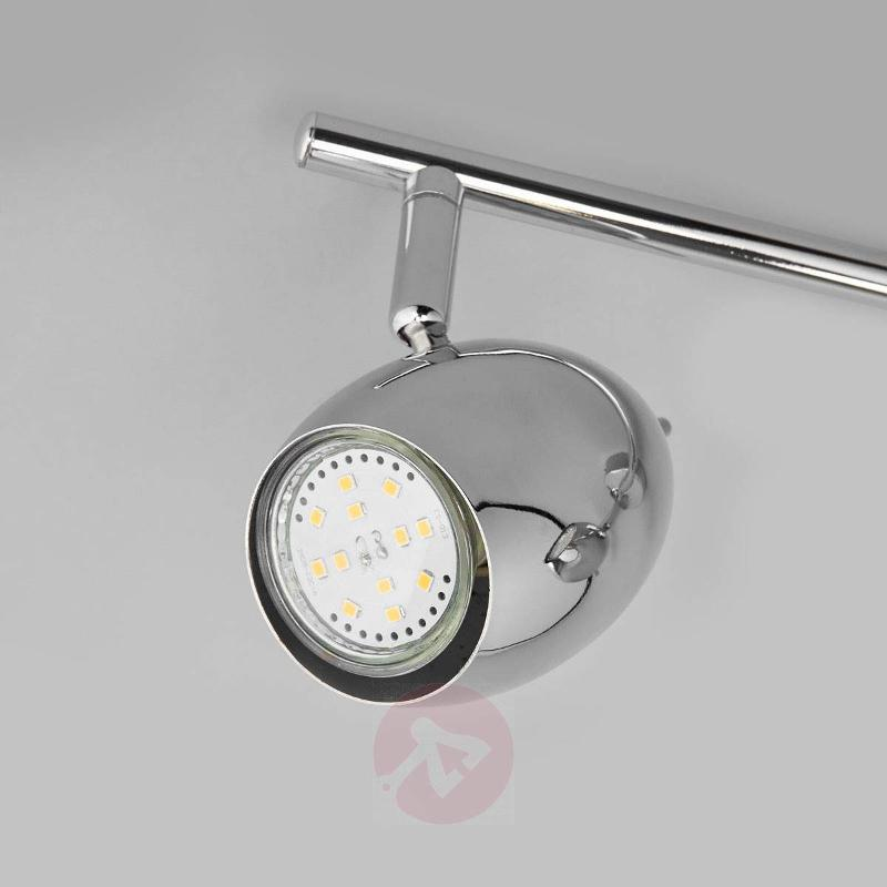 3-bulb LED ceiling lamp Philippa, chrome-plated - Ceiling Lights