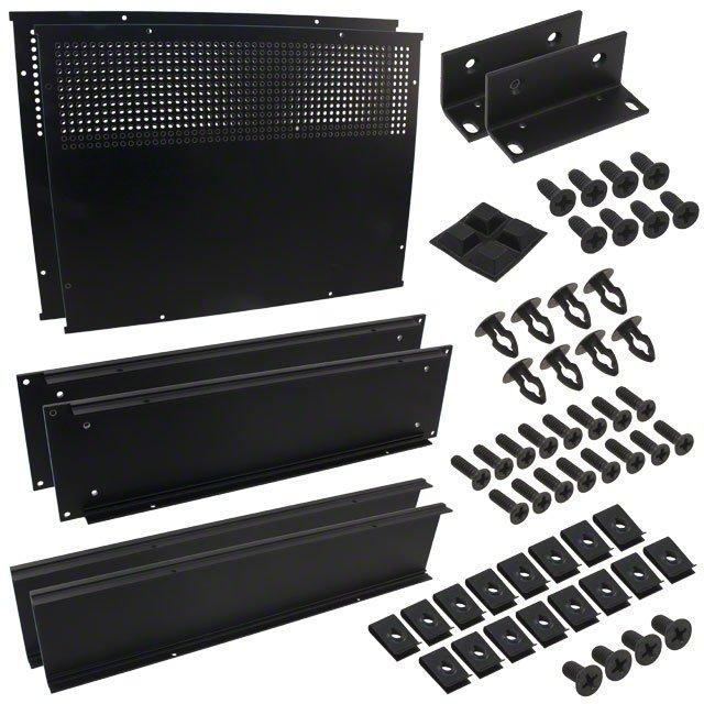 """CHASSIS 13X16.6X3.5"""" BLACK - Hammond Manufacturing RM2U1913VBK"""