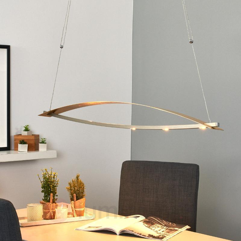 Métal frappé doré - suspension LED Joka - Suspensions LED