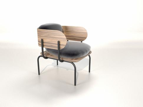 Armchair Line1 Collection Graphica - null