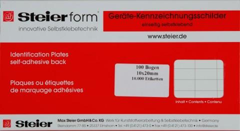 white fabric equipment labels for manual marking - labels from Steierform 87-60160 material