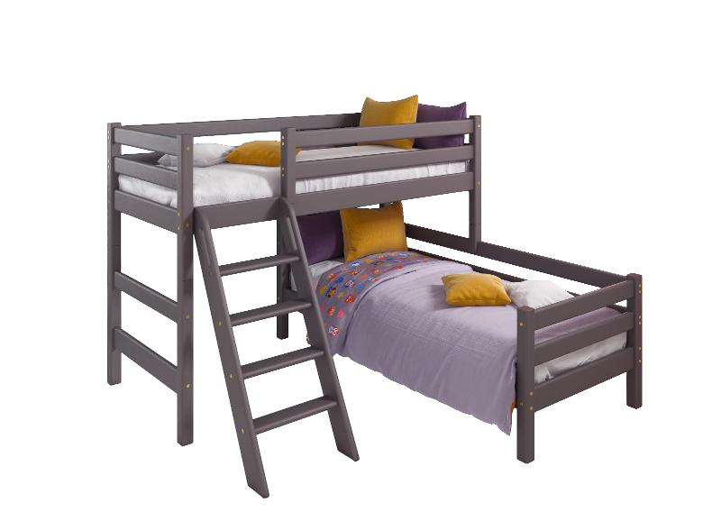 """Option 8 Corner Bed """"Sonya"""" Lavender With An Inclined Staircase - Children's room furniture"""