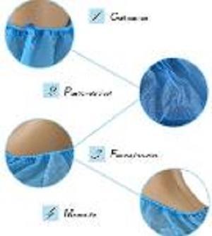 Couvre-chaussure jetable en PE / CPE - Couleur: bleu, blanc, vert Matériel: PE, CPE Taille: 15 * 39 16 * 40 17 * 41cm e