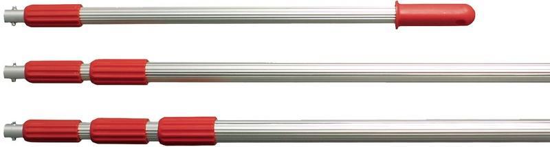 Telescopic rod - Sampler for liquids, for different tools (beaker, bottle, catch net)