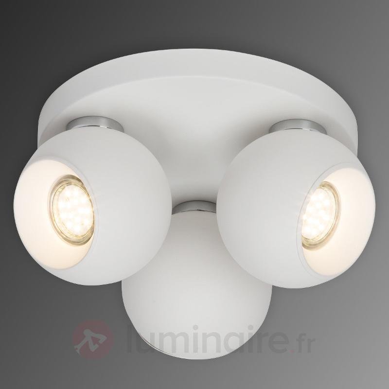 Plafonnier LED circulaire White Ball, 3 lampes - Plafonniers LED