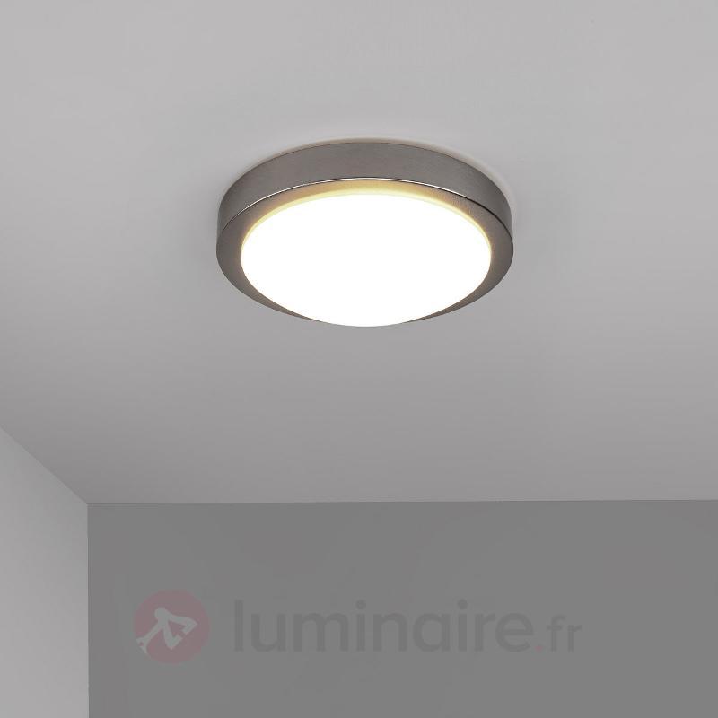 Plafonnier salle de b. LED Aras, nickel mat 10W - Salle de bains