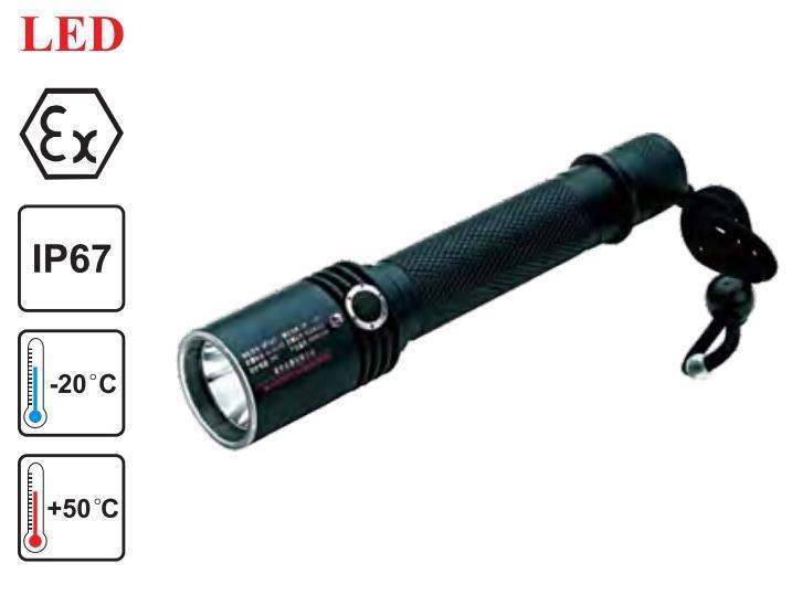 Lampe Torche IP67 antidéflagrant à éclairage Led CREE