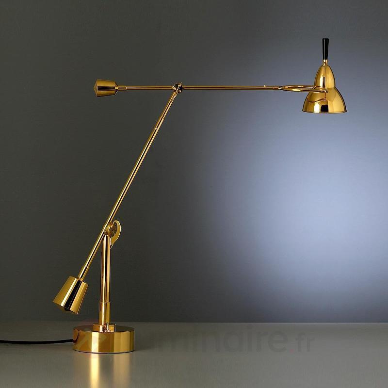Lampe à poser Buquet en métal plaqué or 24 carats - Lampes à poser designs