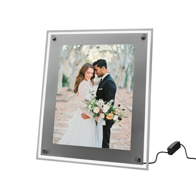 Table Backlit Poster Frame - crystal led light box