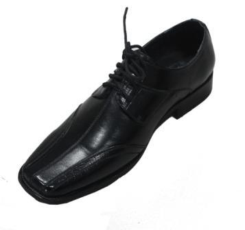 Zapatos de tacón cuadrado de cuero para hombre