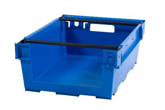 Stack and nesting boxes  - bale-arm crates, 35L (solid and/or perforated)